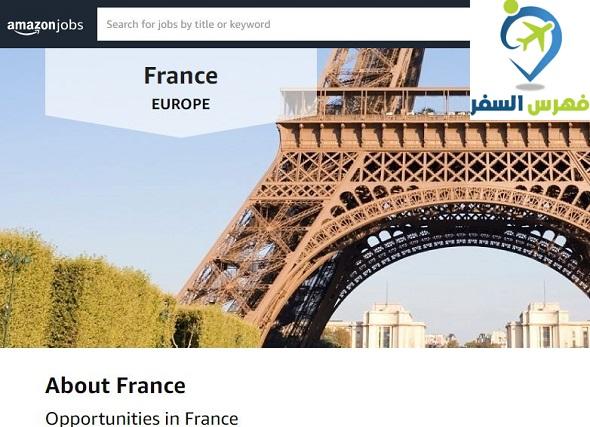 فرص العمل في فرنسا 2020