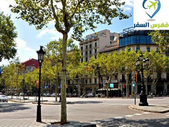 شارع لا رامبلا برشلونة